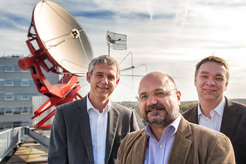 Astrophysicists Heino Falcke, Luciano Rezzolla and Michael Kramer (from left to right, principal investigators of the BlackHoleCam research project which is funded by European Research Council (ERC) with a Synergy Grant of 14 Million Euros.