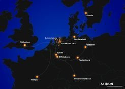 <em>LOFAR-Stationen in Europa. </em>