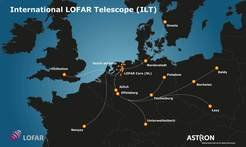 <p><em>European antenna stations of the International LOFAR Telescope (ILT). The core station is near Exloo in the Netherlands; further stations are in the Netherlands, Germany, Poland, UK, Sweden and France.</em></p>