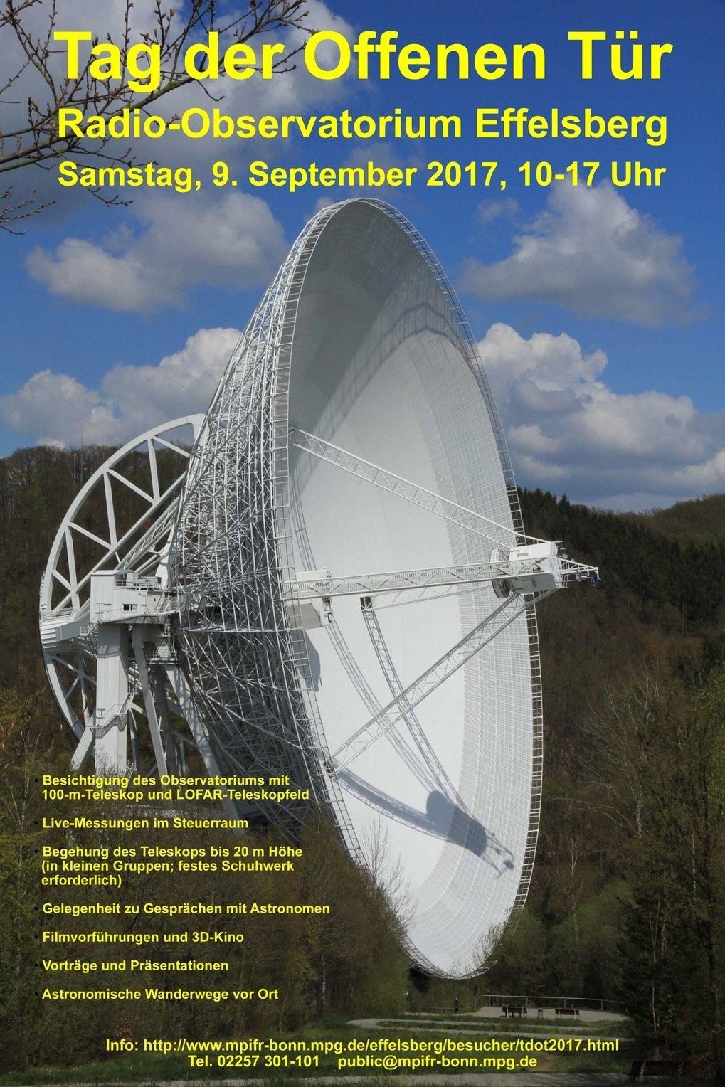 tag der offenen t r am 100 m radioteleskop effelsberg max planck institut f r radioastronomie. Black Bedroom Furniture Sets. Home Design Ideas
