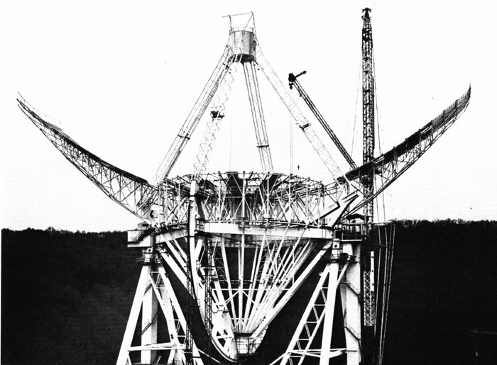 The telescope under construction