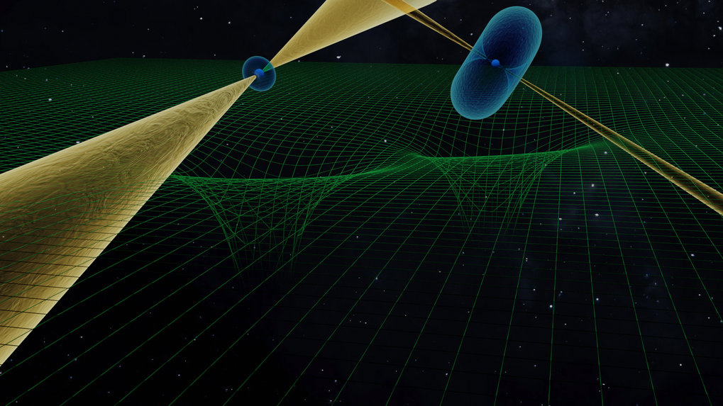 Artistic impression of the unique couple pulsar system.