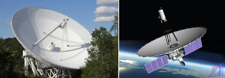 A strong duo: The 100-m radio telescope in Bad Münstereifel-Effelsberg and the 10-m spacecraft telescope of the RadioAstron project on Spektr-R