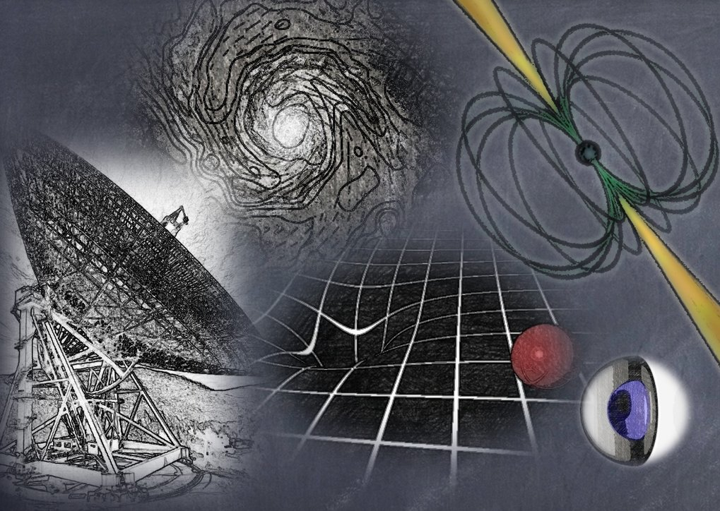 Radio astronomical measurements allow the study of a variety of questions in fundamental physics. Those questions range from the equation-of-state of super-dense matter to the investigation of fundamental forces such as gravity and magnetism. In particular, the research group searches for and exploits fast-rotating neutrons stars that are visible as radio pulsars. Their observations allow us to test general relativity and alternative theories of gravity and works towards the detection of a long-wave cosmological gravitational wave background. Further studies exploit the information that is imprinted in radio emission about cosmic magnetic fields. Pulsars are used to study the magnetic milky way, while far-distant, external galaxies allow us to study cosmic magnetism. Magnetic fields are also important during the formation and the evolution of neutron stars.