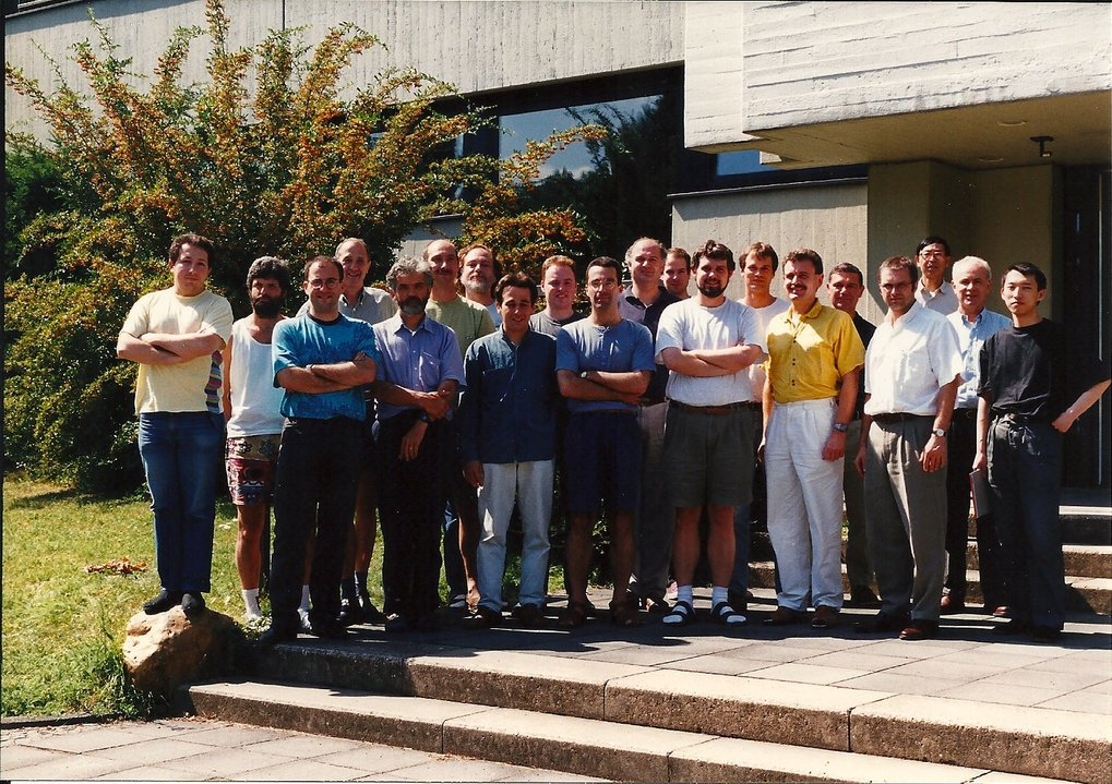 VLBI-Department, July 1999Among others, from left to right: Eduardo Ros, Alex Kraus, Thomas P. Krichbaum, Heino Falcke, Jens Klare, J. Anton Zensus.