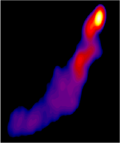 "<div class=""hide_in_print"">Stacked image of the quasar CTA102, from the MOJAVE project</div> <div> </div>"