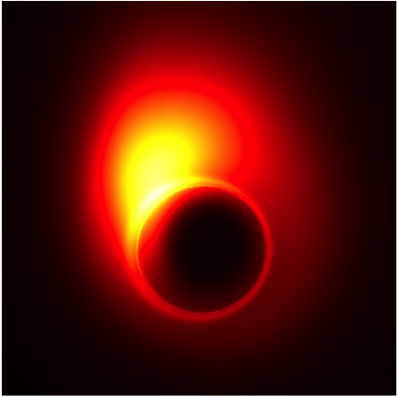 Simulation of onset of jet near black hole