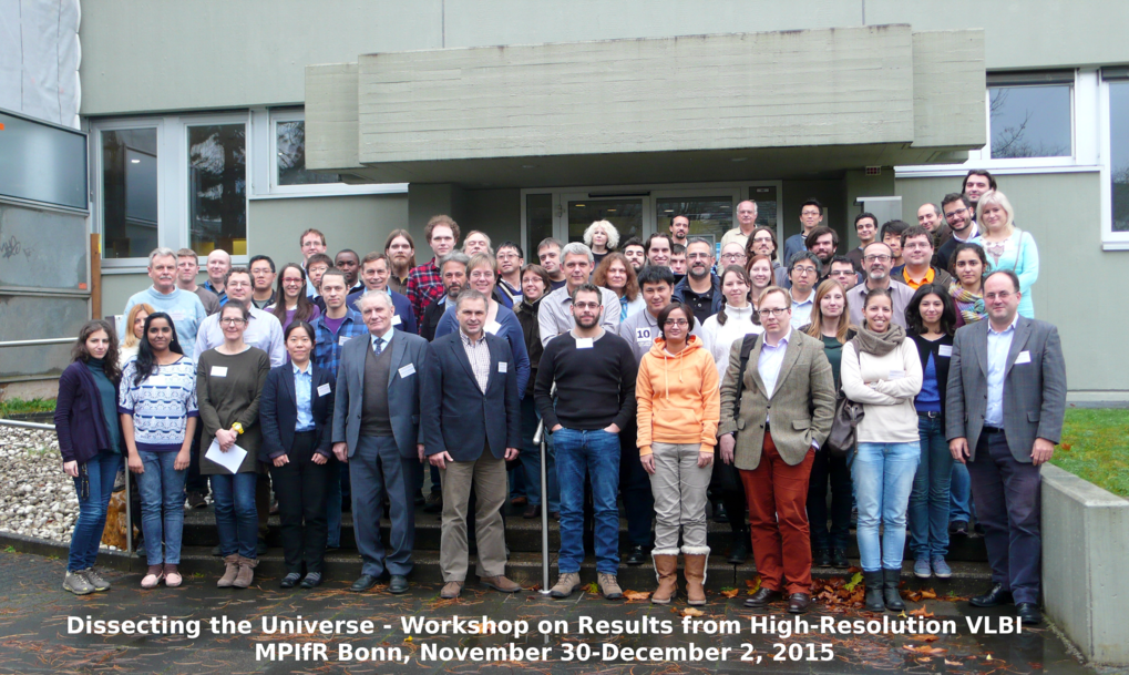 "Group picture of the conference ""Dissecting the Universe"", taken on December 1st, 2015 at the MPIfR."