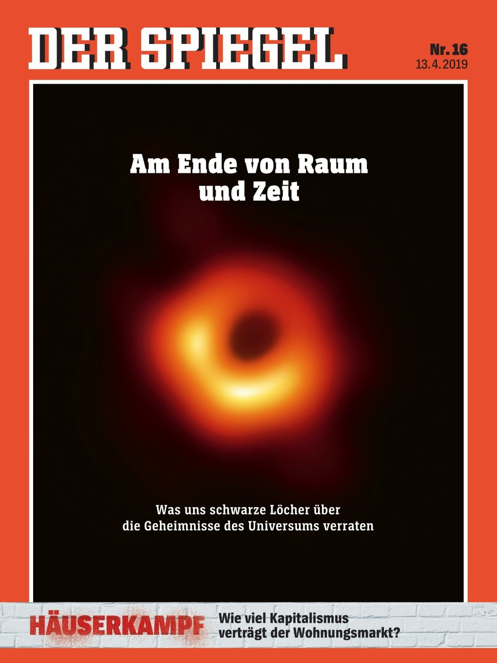 "Cover Page from weekly magazine ""Der Spiegel"", April 13, 2019"