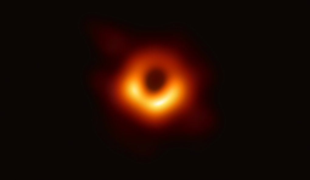 The first direct visual evidence of the supermassive black hole in the centre of the galaxy Messier 87. The shadow of the black hole was revealed in observations with the Event Horizon Telescope (EHT), a planet-scale array of eight ground-based radio telescopes.  This major discovery was presented in April 10, 2019, in coordinated press conferences around the world and in six publications in the Astrophysical Journal Letters.
