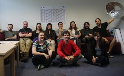 <p>PhD students from the office EK09, Summer 2013</p>