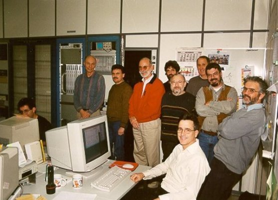 1999First test correlation at Dezember 1999from left to right:Kevin Dudevoir, Alan Whitney, Walter Alef, Bill Wildes, Heinz Fuchs, Horst Blaschke, Roger Capallo, Uwe Stursberg, Michael Wunderlich und Dave Graham